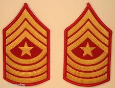 USMC US Marine Corps Sergeant Major Male Dress Blues Rank Stripes Chevrons
