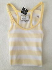 Abercrombie & Fitch Stripe Cami/Vest 'Yellow/White' (UK M) (RRP £18) 16.6% Disc