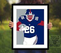 SAQUON BARKLEY New York Giants Photo Art 8x10 or 11x14 NY Football Picture Print