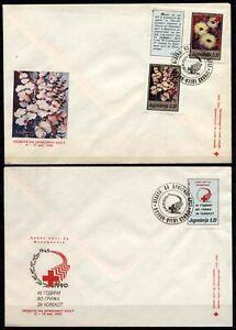 508 Yugoslavia - Macedonia 1990 Red Cross, MC + FDC