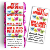 Personalised Love Hearts Wedding Favours Sweets - Just Married + Fast Despatch!