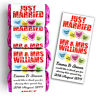 Personalised Love Heart Sweets Wedding Favours Just Married - Mini Love Hearts