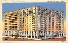 St. Louis Missouri 1940s Postcard New Jefferson Hotel