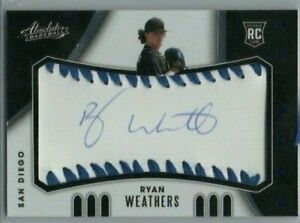 2021 Absolute San Diego Padres Ryan Weathers Blue Seams Autograph RC /50