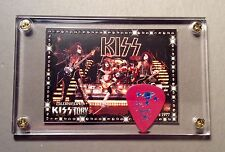 KISS Ace Frehley fucsia tour guitar pick /70's live group image card display #63