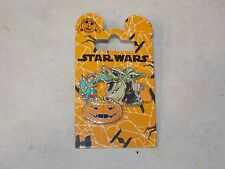 Disney Parks Trading Pin Halloween 2016 Yoda With Candy Star Wars on Card