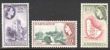 Barbados #244-46 Mint Nh - 1956 Qe Ii Pictorials ($61)