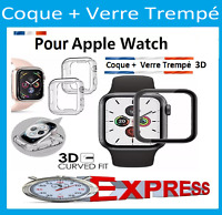 Apple Watch 1/2/3/4/5  38/40/42/44mm COQUE+VITRE VERRE TREMPÉ 3D FILM PROTECTION
