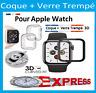 Apple Watch 1/2/3/4/5/6  38/40/42/44mm COQUE+VITRE VERRE TREMPÉ FILM PROTECTION