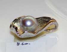SPECIAL OFFER 8.6MM JAPANESE Aurora Madama PEARL PENDANT STERLING SILVER