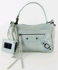 Authentic BALENCIAGA Agneau Lambskin Leather Small Shoulder Hand Bag Pouch