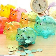 Cute Plastic Pig Piggy Bank Coin Money Cash Collectible Saving Box Children Gift
