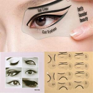 10 pièces pochoirs eyeliner modèles de pochoir eye-liner ailé modèle outils Mpib