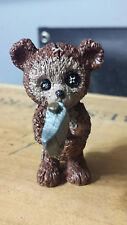 Scary Teddy bear for fairy garden/miniature gardening, Teddy bear with axe