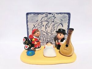 "Portuguese Nativity Scene - Handmade in Clay - 1 block - 3.8""X2.2""X2.9"" high"