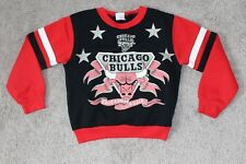 vtg 90s CHICAGO BULLS Sweatshirt Boys 6 Small S Youth Jordan NBA Basketball Red