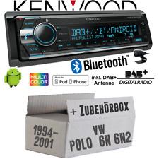 Autoradio für VW Polo 6N + 6N2 Kenwood DAB+ Bluetooth CD USB iPhone Einbauset