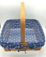 Longaberger 1994 WOVEN TRADITION COLLECTION PIE Basket PROTECTOR Liner & Stand