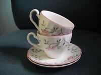 2 Johnson Bros/Brothers SUMMER CHINTZ Cup Saucers- Set of Two EXC