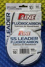 P-Line SS Leader 100% Pure Fluorocarbon Salmon & Steelhead 10lb/100yd SSFL100-10