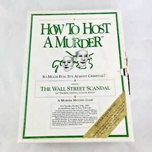 How To Host a Murder Wall Street Scandal Murder Mystery Vintage 1991 Never Used