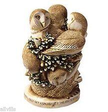 Ivory Tower 3 beautiful Owls Harmony Kingdom Zookeepers By David Lawrence