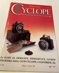 Revue Photo Photographe amateur appareils photographiques Cyclope N°42 1999 TBE