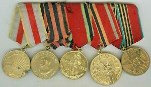 USSR Soviet Russian Original Military Medal Veteran WW2 Order Orden Ordre