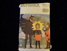Ladybug Sunflower Bat Costume Sewing Pattern Butterick 4972 Child SzS-L Uncut  Z