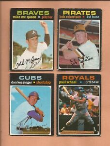 1971  OPC  Lot of 4 w/  # 455  DON KESSINGER  Chicago Cubs   medium-low grade