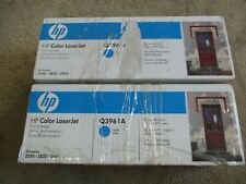 (Lot of 2) Q3961A 122A Genuine HP Cyan Toner Color LaserJet 2550 2820 2840 New