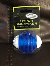 Hyper Pet | Hyper Squawker Blue/White Ball Interactive Dog Toy