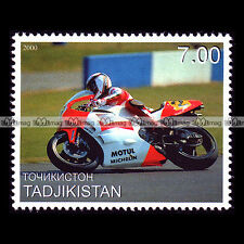 ★ WAYNE RAINEY (YAMAHA YZR 500) ★ TADJIKISTAN Timbre Moto Motorcycle Stamp #344