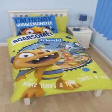 DISNEY HENRY HUGGLE MONSTER ROAR SINGLE PANEL DUVET SET QUILT COVER KIDS BEDDING