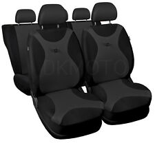 Full set CAR SEAT COVERS  fit Citroen C3 C4 - black/grey
