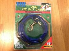 New listing Titan Dog Tie Out Cable For Medium Dogs 15 Foot Cable