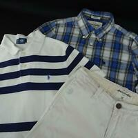 Boys Pants +2 Shirts Size Medium 10-12 Polo Ralph Lauren Abercrombie Fitch Kids