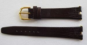 BROWN ITALIAN LIZARD GRAIN STRAP WITH CUT OUT ENDS - GP 14MM/18MM - FOR CARTIER