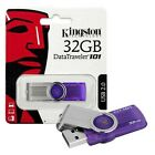 Kingston Data Traveler 101 G2 USB 2.0 Flash Drive Memory Stick - 32GB