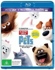 The Secret Life Of Pets 3D (Blu-ray, 2016) (2 Disc Set) Brand New & Sealed