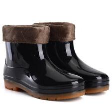 Winter Warm Mens Short Leg Rainy Wellies Wellington Rain Boots Waterproof Shoes