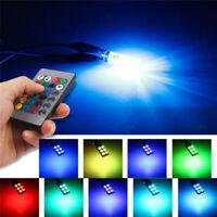 T10 W5W 5050 6SMD RGB LED 2PCS Multi Color Light Car Wedge Bulbs Remote Control