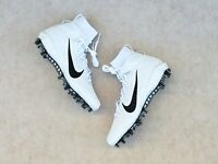 NIKE ALPHA HUARACHE 7 ELITE LAX FOOTBALL CLEATS SIZE 8 WHITE CJ0224-100