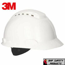 3M WHITE HARD HAT CAP STYLE 4 POINT RATCHET SUSPENSION VENTED H701V CONSTRUCTION