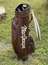 Vintage Brown MacGregor Golf Club Bag