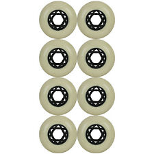 Inline Skate Rollerblade Wheel 76mm 78a White/Black Star Hub x8