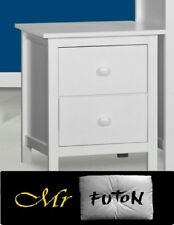 Assembled Ice Hardwood timber 2 drawer Bedside chest table in white