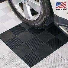 EZ DIY Garage Floor Tiles |Perforated Tiles Black - USA MADE