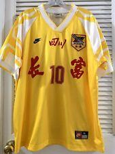 CHINA sichuan jersey soccer size xl 四川全兴 1996 10号 花蝴蝶 马麦罗 魏群 姚夏 黎兵 马明宇