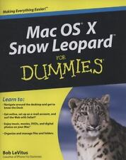 Mac OS X Snow Leopard For Dummies, LeVitus, Bob, Good Condition, Book